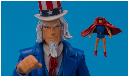 Uncle Sam with Doll Man